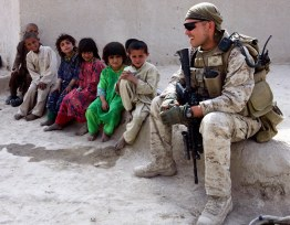 HELMAND PROVINCE, Afghanistan Marines with Bravo Company, 1st Battalion, 6th Marine Regiment, 24th Marine Expeditionary Unit, International Security Assistance Force, operating in Garmsir.